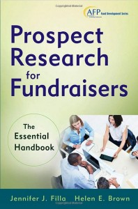 Prospect Research for Fundraisers cover